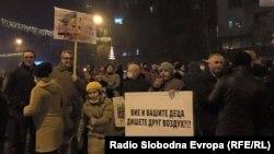 Protesti u Skoplju zbog zagađenja vazduha 2015. godine