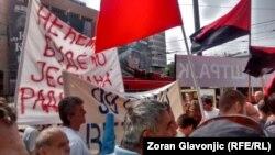 Sa jednog od nedavnih protesta radnika Goše