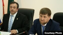 Нурди Нухажиев с главой Чечни Рамзаном Кадыровым