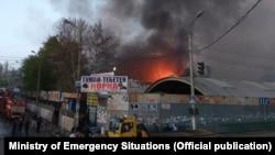 Пожар на рынке «Берекет». Апрель 2018 года.