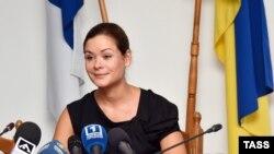 Мария Гайдар на пресс-конференции в Одессе