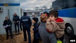 Австриянең Шердинг шәһәрендәге качаклар лагере, 2016 елның 12 гыйнвары