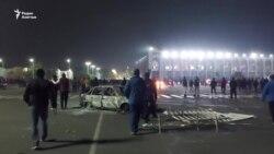 Бишкек: разгон протеста и последующий захват здания правительства