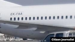 تصویر دیگری از هواپیمای بوئینگ ۷۳۷ در فرودگاه مهرآباد
