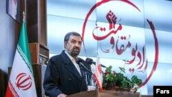محسن رضایی، دبیر مجمع تشخیص مصحلت نظام در مراسم افتتاحیه «رادیو مقاومت»
