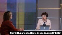 Міністр соціальної політики України Марина Лазебна і ведуча Інна Кузнецова