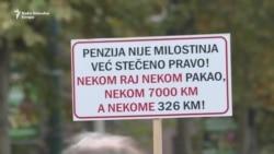Protest penzionera: 'Nek' vlada živi od 300 maraka'