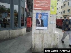 Miroslav Škoro na predizbornom plakatu, Zagreb 14 maja 2021.