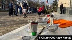 Protest in Timisoara, Romania