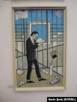 Roboți (Grigore Vieru), 1969, ulei și acrilice pe carton