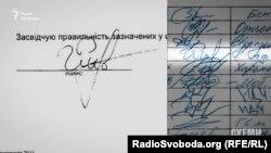 Підпис у документі від імені нібито Рибакова справді схожий на підпис у його декларації