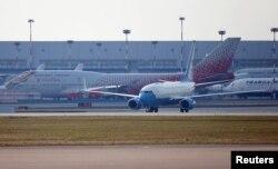 Самолет госсекретаря США после приземления во Внуково-2