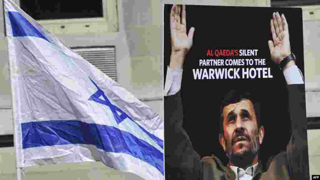 تظاهرات علیه محمود احمدینژاد- نیویورک، ۳ مهرماه ۱۳۹۱