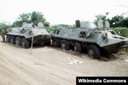 Уничтоженные гренадские БТР-60