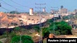 Забор на границе Палестины и Израиля