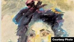 Анатолий Зверев. Портрет актрисы Самойловой. 1958, Бумага, акварель