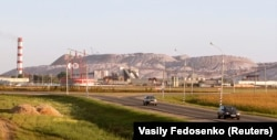 The Belaruskali potash mine, near the town of Soligorsk, 134 kilometers south of Minsk
