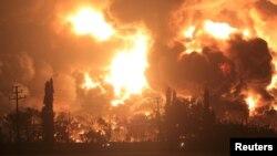 آتشسوزی در تصفیهخانه نفت در اندونیزیذ