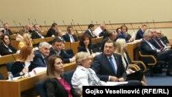 Član Predsjedništva BiH u Narodnoj Skupštini Republike Srpske, tokom sednice 11. novembra 2019.