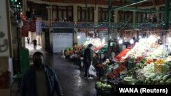 Tajrish Bazaar in Tehran appears deserted amid fear of the coronavirus disease (COVID-19), April 2, 2020