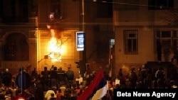 Белград урамнарында тәртипсезлекләр