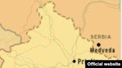 Мапа південної Сербії