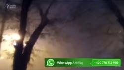 Bakıdakı yağış videolarda