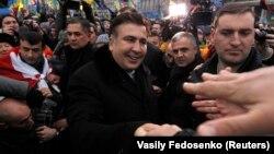 "Михаил Саакашвили с участниками ""евромайдана"""