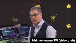 Президент Туркменистана Гурбангулы Бердымухамедов (кадр из программы государственного телевидения Туркменистана)