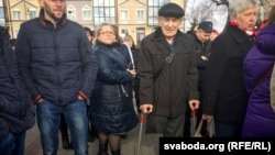 Мікалай Крычко на «Маршы недармаедаў» уПінску