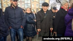 Жыхар Пінску Мікалай Крычко на«Маршы недармаедаў»