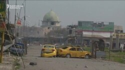 Street Fighting Near Landmark Mosul Mosque