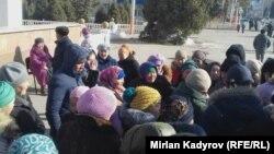 Акция протеста в Нарыне, 13 декабря 2017 г.