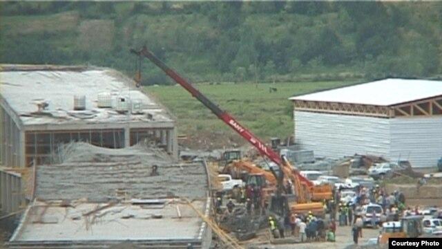 ქუთაისში პარლამენტის დამხმარე ნაგებობის მშენებლობაზე ერთი მუშა დაიღუპა. 7 ივნისი 2012 წ.