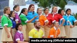 Вожатые детского центра «Артек», июль 2020 года