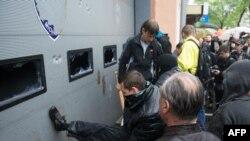 Odesa, napad na zgradu policije