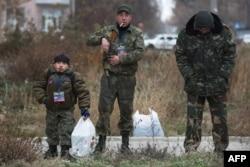 """Ополченцы"" в Донецке"