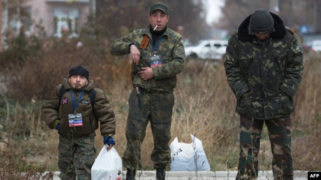 Пророссийские сепаратисты в Донецке
