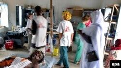 Судан. Госпиталь в Дарфуре, 2004 г