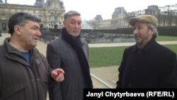 Акмухаммед Велсапар (Швеция), Рустем Жангожа (Казакстан) жана Хамид Исмаилов (Лондон) Парижде. 15.02.2013