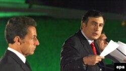 Прогнозы пессимистов в Тбилиси не оправдались, Саркози было чем порадовать Саакашвили