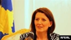 Kosowanyň prezidenti Atifete Ýahýaga Azatlyk Radiosy bilen söhbetdeşlikde, 2-nji awgust.