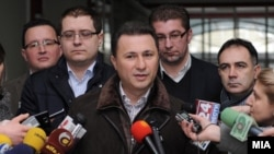 Macedonia - Prime minister Nikola Gruevski speaks to the journalists in Skopje, 05Feb2012