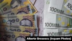 Moneda națională a României se depreciază continuu în raport cu Euro. Iar trendul pare greu de schimbat.