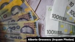 Leul a ajuns la un nou minim istoric în raport cu euro.