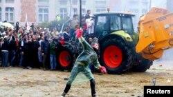 Фермери на акції протесту у Брюсселі, Бельгія, 7 вересня 2015 року
