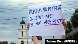 La protestul față de invalidarea alegerilor din Chișinău, 1 iulie 2018