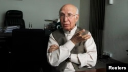 Sartaj Aziz, the Pakistani prime minister's adviser on foreign affairs