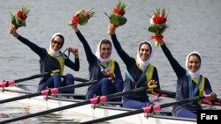 تیم روئینگ دختران ایران در مسابقات آسیایی چین/ عکس تزئینی است