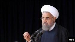 Rohani gjatë fjalimit të tij në Arak, Iran